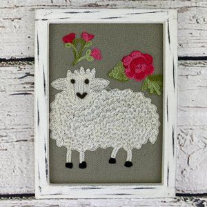 Karma Living Diligent Sheep Wall Art Handcrafted